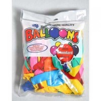 Balloons clips and ribbon : Standard 30cm Mixed colour