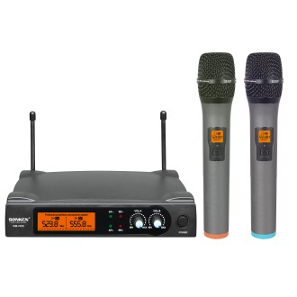 Wireless UHF22SD with 2 Handheld mic with display